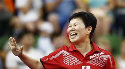 55 metų stalo tenisininkė laimėjo medalį Europos žaidynėse