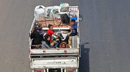 Sirijoje kiek daugiau nei per savaitę namus paliko 30 tūkst. žmonių