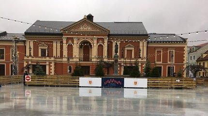 Ledo čiuožyklos atidarymas Klaipėdoje – trečiadienio vakarą