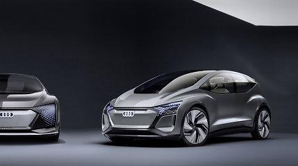 """""""Audi"""" Šanchajuje parodė didmiesčio viziją: kompaktinis elektromobilis AI:ME"""
