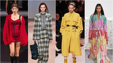 9 rudens mados tendencijos: nuo apatinių tipo drabužių iki languotų audinių ir spalvotos odos