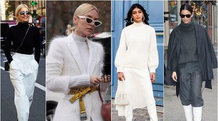 Kaip derinti baltus drabužius šaltuoju metų laiku?