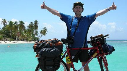 Pasaulį dviračiu maišantis klaipėdietis išvyksta į sudėtingiausią gyvenimo kelionę