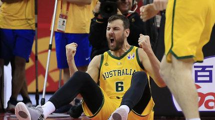 Australija gniuždančiu spurtu patiesė Čekiją ir žengė į pusfinalį