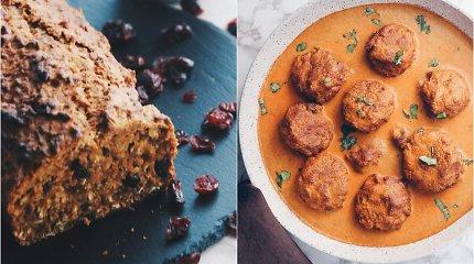 auGalingas iššūkis: avinžirnių kukuliai, kepti paprikų padaže, ir aromatingas pyragas