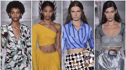 """Milane pristatytoje """"Roberto Cavalli"""" kolekcijoje – trumpi sijonai ir raštų gausa"""