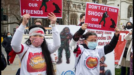 Mianmaro chuntos šalininkai perėmė kontrolę ambasadoje Londone