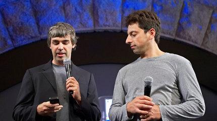 """Abu """"Google"""" įkūrėjai perleidžia savo įmonės vadžias"""