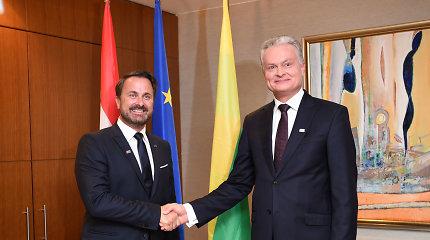 G.Nausėda Liuksemburgo premjerui pristatė Lietuvos ES darbotvarkės prioritetus