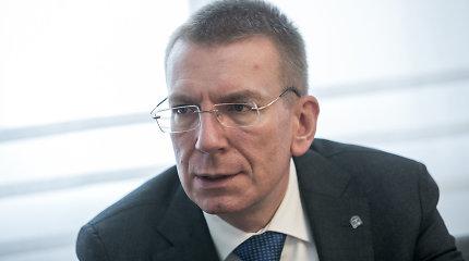 """Latvijos diplomatijos vadovas E.Rinkevičius: """"Solidarumas – dvipusio eismo gatvė"""""""
