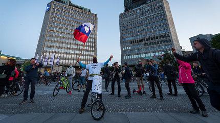 Slovėnijoje įvyko protestas prieš numanomą vyriausybės korupciją ir teisių varžymą