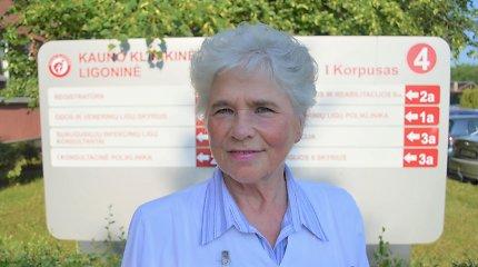 """70-metė gydytoja G.Žiedelienė: """"Anksčiau drausta pranešt pacientui apie onkologinę ligą"""""""