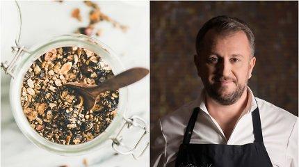 Pasigamins kiekvienas: spragintų grikių granola pagal virtuvės šefą Liutaurą Čepracką