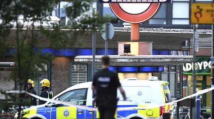Sprogimą Londono metropolitene tirianti britų policija sulaikė įtariamąjį