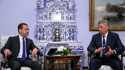 Kandidatas į Ukrainos prezidentus J.Boiko susitiko su Rusijos premjeru