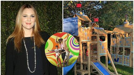 Drew Barrymore išpildė kiekvieno vaiko svajonę: dukroms pastatė 27 tūkst. eurų vertės žaidimų namelį