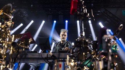 """Andrius Mamontovas debiutavo Šiuolaikinio meno centre: tarp meno kūrinių – šou su """"robotu"""""""