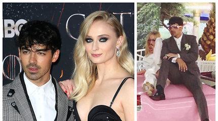 """Po muzikos apdovanojimų """"Jonas Brother"""" narys išskubėjo į vestuves: slapta vedė """"Sostų karų"""" žvaigždę"""