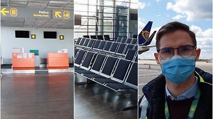 Išskirtinis pasivaikščiojimas po tuščią Kauno oro uostą: kas jame vyksta per karantiną ir naujos skrydžių taisyklės