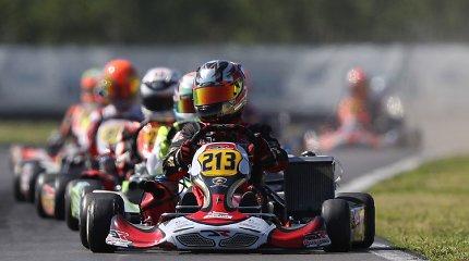 Justas Jonušis startavo Europos kartingo čempionate