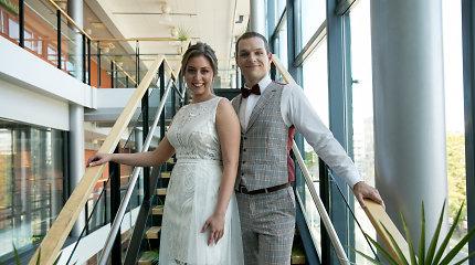 Vilniuje – neįprastos ir jaudinančios vestuvės: Gintarė ir Paulius susituokė kino teatre