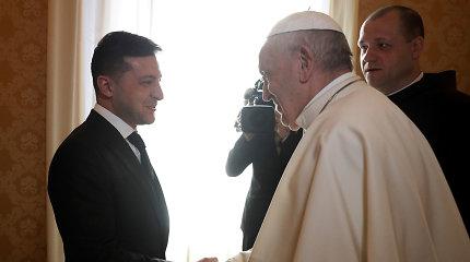 Ukrainos prezidentas paprašė popiežiaus pagalbos sprendžiant separatistinį konfliktą