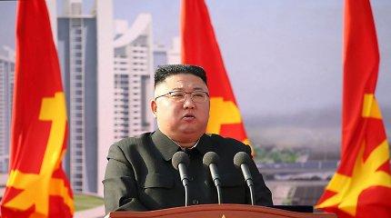 """Šiaurės Korėja: J.Bidenas vykdo """"priešišką politiką"""" ir sulauks atsako"""