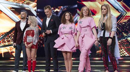 """""""X Faktoriuje"""" verda aistros: šou paliko trys merginos"""