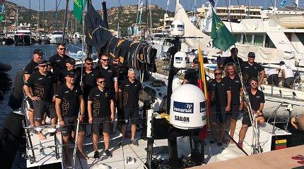 """""""Ambersail2"""" meta iššūkį – startavo lenktynėse su dvigubai didesniais laivais: """"Kova bus didelė"""""""