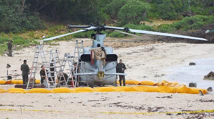 Okinavoje vėl avariniu būdu tūpė JAV karinis sraigtasparnis