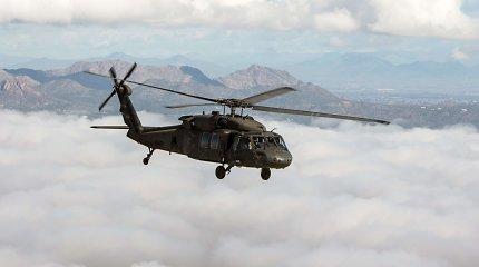 """Feisbuke piktinamasi, kad Lietuva permokės už """"Black Hawk"""" sraigtasparnius, bet ar tikrai?"""