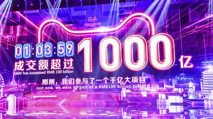 """Kinijos vartotojai išleido milijardus per """"Vienišių dienos"""" išpardavimų akciją"""
