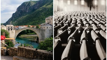 Bosnija ir Hercegovina: nuostabūs vaizdai siaubingų žudynių fone