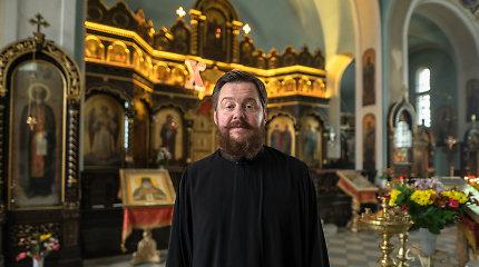 """Diakonas K.Pankrašovas: """"Kartais žmonės užeiti į cerkvę bijo, klausia, ar pas musgalima tik su skarom"""""""