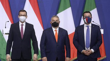 Lenkijos ir Vengrijos premjerai bei M.Salvini sutarė dėl kuriamo naujo aljanso gairių