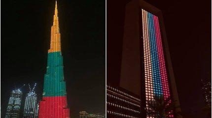 Lietuvos trispalvės spalvomis nušvito aukščiausias dangoraižis pasaulyje