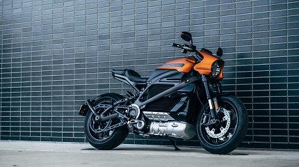 """Kas kiša koją elektrinio motociklo """"Harley-Davidson"""" pardavimams?"""