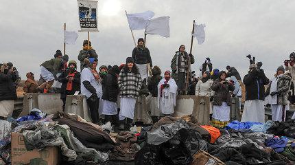 Indėnų kova prieš naftotiekį skatina tautos atsigavimą