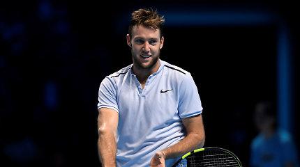 Po pusės metų pertraukos į ATP turą grįžta Jackas Sockas