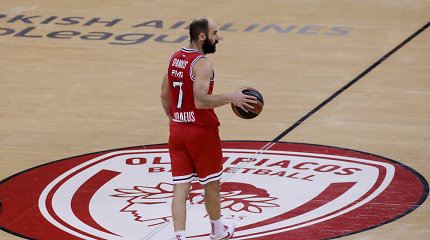 """Galimai paskutinėse V.Spanoulio karjeros rungtynėse – """"Olympiakos"""" triumfas"""