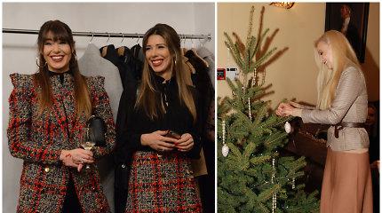 Žinomos moterys susitiko kalėdiniame renginyje: drauge puošė eglę ir dalijosi grožio paslaptimis
