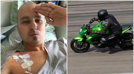 Tituluotas motociklų lenktynininkas D.Savickas apie lenktynes su vėžiu: supratau, kad pasiduoti dar per anksti