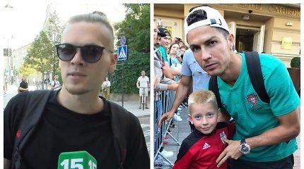"""Cristiano Ronaldo prie viešbučio laukė ir žinomi veidai su atžalomis: """"Išsipildė didžiausia svajonė"""""""