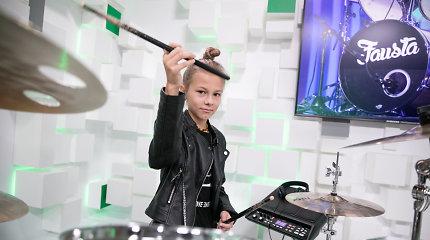 Lietuvą pakerėjusi jaunoji būgnininkė Fausta Šukytė pristatė unikalų projektą