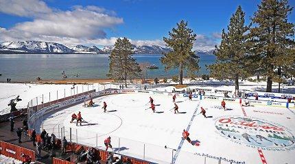 Įspūdingas reginys: NHL rungtynės vyko ant ežero kranto