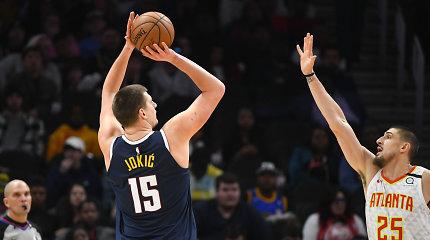 N.Jokičiaus karjeros vakaras: NBA autsaideriams suvertė beveik pusšimtį taškų