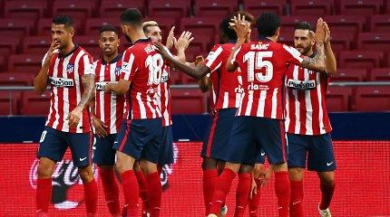 """Nerimastingos dienos """"Atletico"""" klube: prieš svarbų mūšį – du koronaviruso atvejai"""