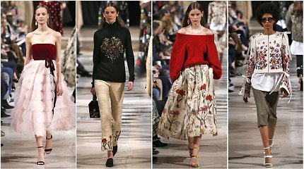 """Oscar de la Renta"" rudens ir žiemos kolekcija: gėlių nebus per daug!"