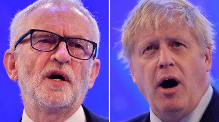 Jungtinės Karalystės premjeras ir leiboristų lyderis ruošiasi pirmiems tiesioginiams debatams