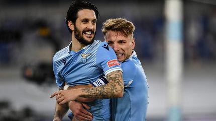 "Romos derbyje dominavo ""Lazio"" futbolininkai"